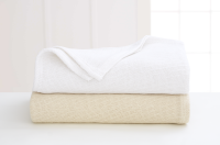 Martex Sovereign White and Natural Cotton Blankets