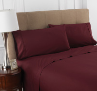 Martex Colors Burgundy Bedding Sheets